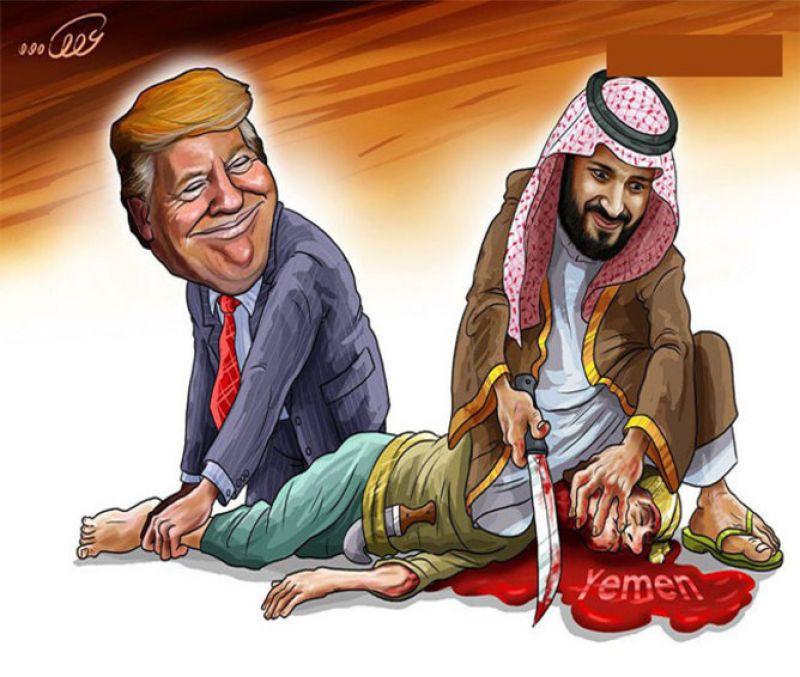 آمریکا همدست جنایات عربستان در یمن