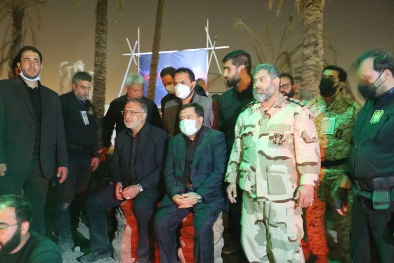 رزم نمایش معبر میزبان شهردار تهران در شب اربعین