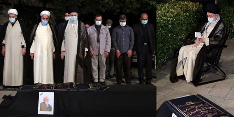 رهبر انقلاب بر پیکر علامه حسنزادهآملی نماز اقامه کردند