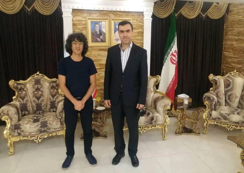 دیدار سرکنسول ایران در سلیمانیه با تورج اصلانی تهیهکننده و کارگردان سینمای ایران