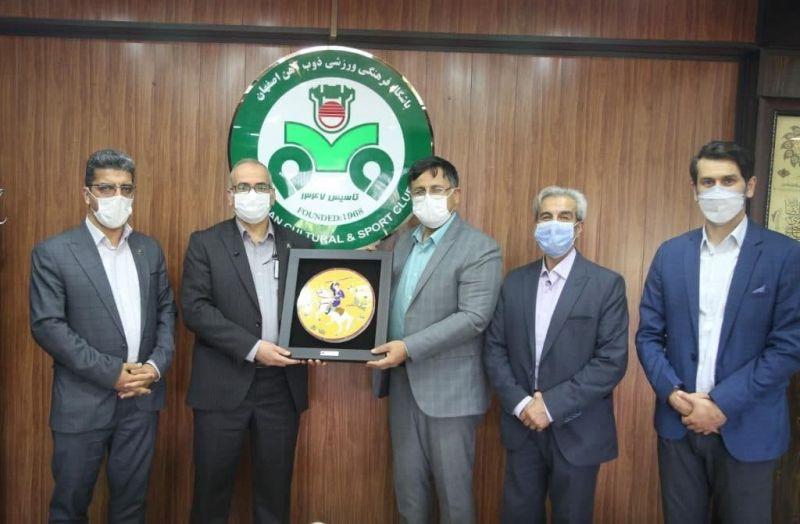 دیدار معاون فرهنگی شهردار اصفهان با مدیرعامل باشگاه ذوب آهن