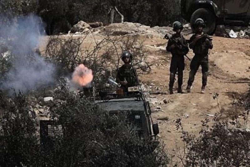 یورش خشونت بار نظامیان صهیونیست به گردهمایی اعتراضی درکرانه باختری